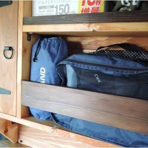 収納棚の荷物飛び出し防止柵(N-VAN)