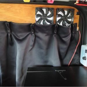 車中泊用換気扇リフォーム完了