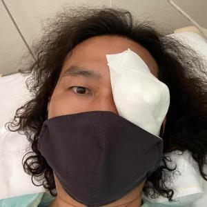 急遽入院して左眼手術してました。本日約1週間ぶりに退院できました。医療現場の方たちに心から感謝致します☆