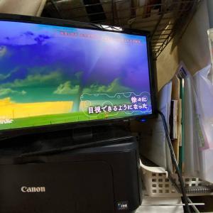 我が家にテレビがやってきました!まるで昭和初期の家族のように大興奮でした(笑)