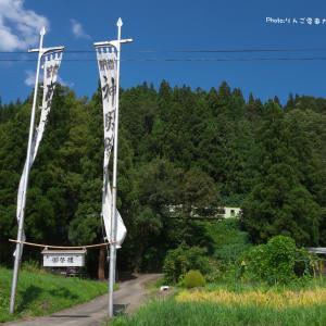 【JR東日本飯山線】キハ110 足滝の豊穣幟