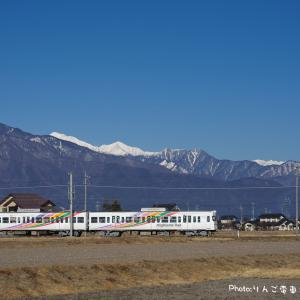 【アルピコ交通上高地線】3000系3001+3002編成 常念岳・1