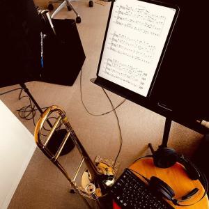 9月リリースシングル曲のテナーパート録音開始