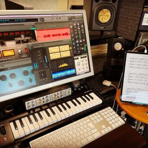 9月リリース曲のミックス開始