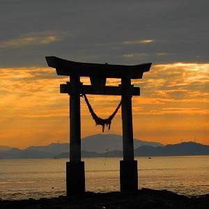 ☆夕陽に癒される 永尾神社☆