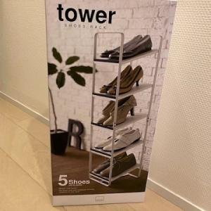towerのシューズラックで玄関がすっきり