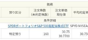SPYDを160口追加購入