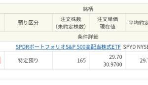 さらにSPYDを165口追加購入