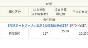 SPYD117口約定
