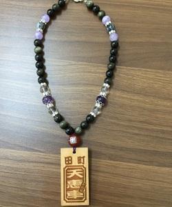 袋井北祭り☆田町・天惠車様数珠ネックレス☆