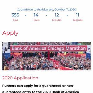 シカゴマラソン2020のエントリーが早くも開始されました。