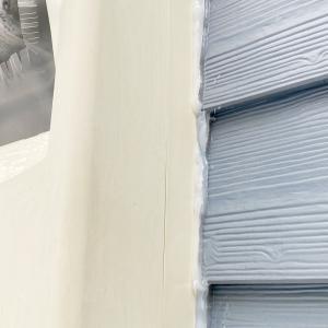 アシナガバチが二度と巣を作らないように隙間をコーキングで塞ぎました。