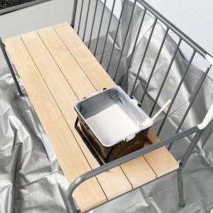 IKEAのアイアンベンチを格安で購入し、白く塗り替えました。