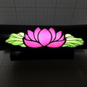 竹ランプ ハス制作