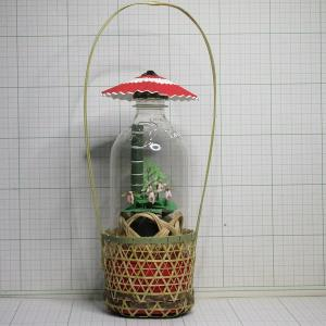 クマガイソウin ダブル竹カゴ