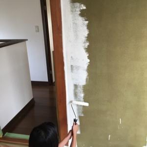 2階和室砂壁DIY~ペンキ編