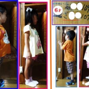 6才幼児孫の身長測定
