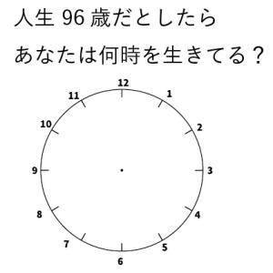 人生24時間に換算したら今何時を生きてる?