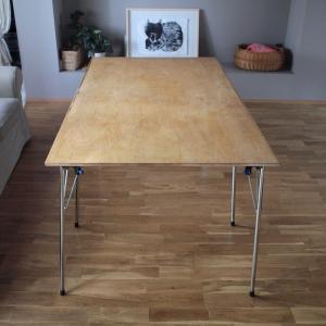 折りたたみテーブルをDIY。ローテーブル・デスクタイプは脚を変えるだけ
