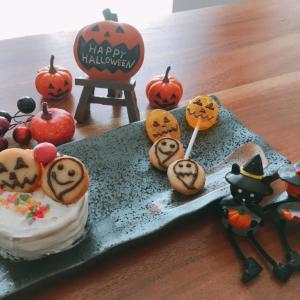 簡単なビスケットケーキをハロウィン風に作ってみた