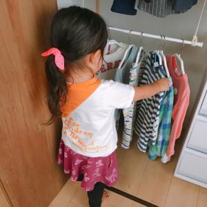 子供も手が届くハンガー収納を作る