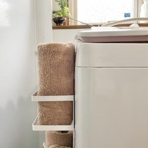 洗濯機横にタオル収納!!マグネットで穴開けずに収納を増やす
