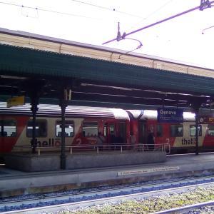 イタリア―フランスを結ぶ電車Thello@Stazione di Genova Piazza Principe