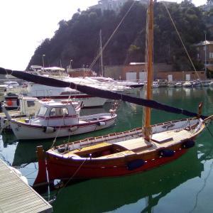 木製のセールボート♪