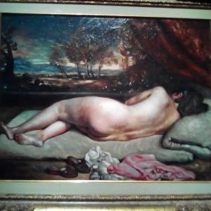 ルノワール的な裸婦画2点☆ @ジョルジョ·デ·キリコ展/Genova Palazzo Ducale