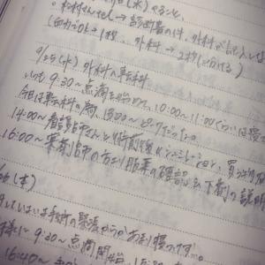 脾臓摘出前後の当時の日記
