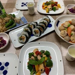 生鮭のハーブソテー☆里芋とホタテの煮物