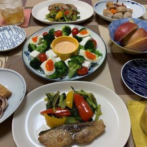 鰤と小松菜のポン酢炒め