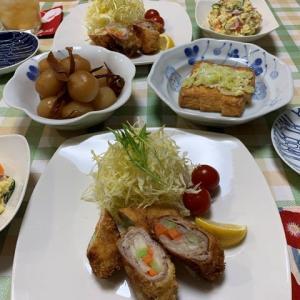 野菜ロールカツ☆ポテサラ