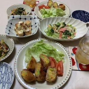 肉巻きコロッケ☆サラダ