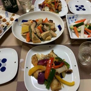 鱈と野菜の黒酢炒め