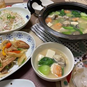 牡蠣とエビと豆腐のトロトロ鍋