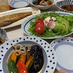 野菜の揚げ浸し☆焼き魚