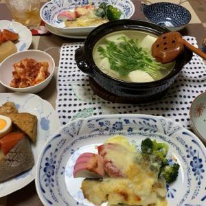 鱈ソテーのチーズ焼き☆湯豆腐