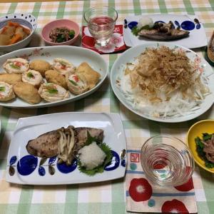 初午いなり寿司☆ブリの塩焼き