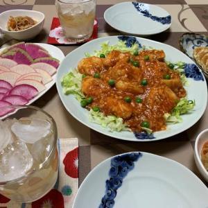 鶏のチリソース風☆大根サラダ