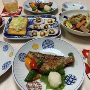 赤魚竜田揚げ☆雪菜の冷や汁☆