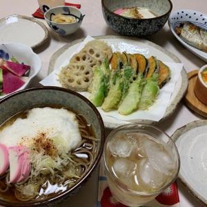 とろろかけ蕎麦☆天ぷら
