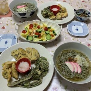 山菜の天ぷら他☆かけ蕎麦