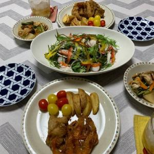 唐揚げ2品☆サラダ☆煮物