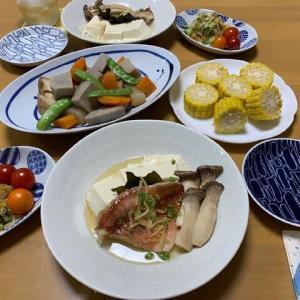 魚の中華蒸し☆中華サラダ