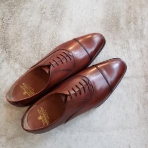 コストパフォーマンスの高い紳士靴 ストレートチップ ブラウン シューイズム