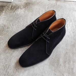 今季の注目靴 黒スエードのチャッカブーツ ポルペッタ 東京・中野坂上 靴屋SO-KUTSU