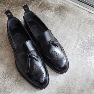 WHダブルエイチ 春夏新作靴 ロングウイングタッセルローファー WH-0502