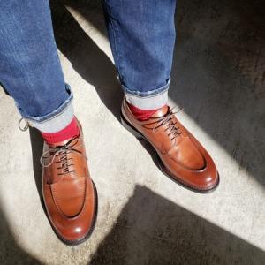 履いてみました! カジュアルコーデにも合わせやすい革靴  シューイズム ユーチップシューズ