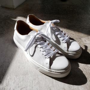 TOSSの定番レザースニーカーChester ホワイト再入荷 中野坂上 紳士靴店SO-KUTSU